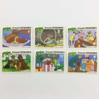 Disney's Stamps - Lady & The Tramp