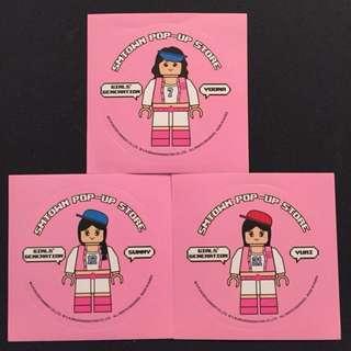 SM Pop Up Store少女時代最新官方貼紙3張