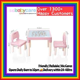 FREE DELIVER LY Kids Study / Writing Table + 2 Chairs Set