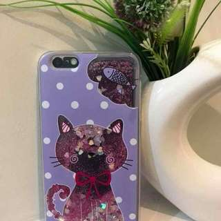 Glittering liquid phone cases