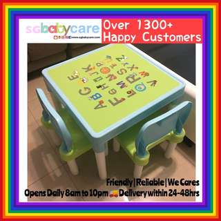 FREE DELIVERY Kids Study / Writing Table + 2 Chairs Set