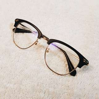 Men's Black and Gold Eyeglasses