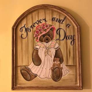 Hand painted wooden plaque