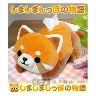 🚚 權世界@汽車用品 日本進口 可愛小熊貓 伏姿式抽取式面紙盒套 ME178
