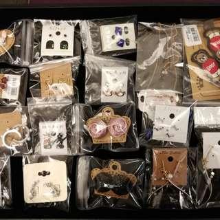 清飾櫃!全新飾物、髮夾、耳環、頭飾、杖巾免費