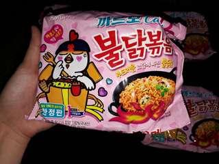pink samyang noodles