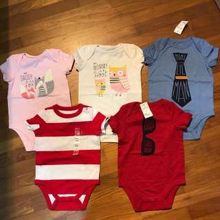 Brand New Gap Baby Rompers 6-12 Months