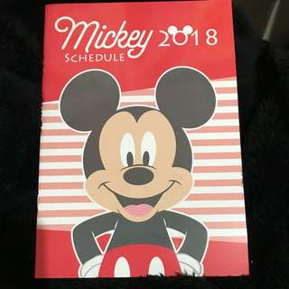 Mickey Mouse schedule book 2018