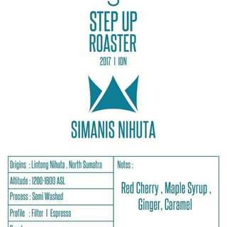 "Roasted Coffee Beans ""Simanis Nihuta"" by Stepup Roasters"