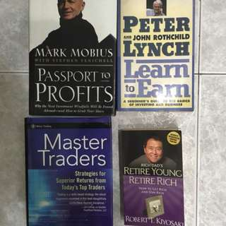Robert kiyosaki peter lynch mark mobius investment trading books