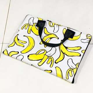 *SNUPPED* Banana Print Laptop Sleeve with handles