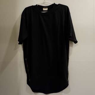 Black Kanye West inspired Tshirt with zippers