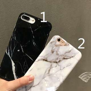 PO(281) White Black Marble Lines iPhone Phone case