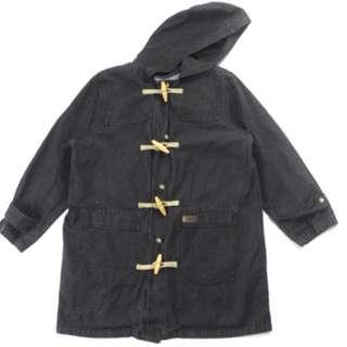 Vintage denim toggle coat