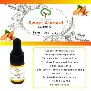 Sweet Almond | Carrier Oil | Pure | Undiluted
