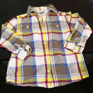 OshKosh Checkered Long Sleeve Shirt