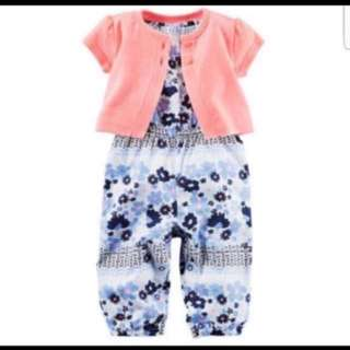 *24M* BN Carter's 2-Piece Jumpsuit & Cardigan Set