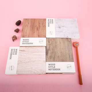 Wood Style Mixed Notebook