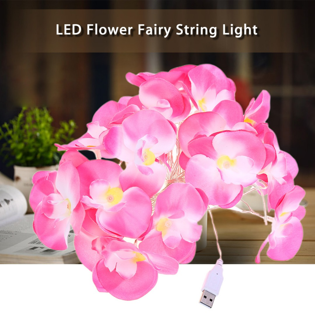 4 Meter 20 Leds Flower Fairy String Light Usb Charging Decoration