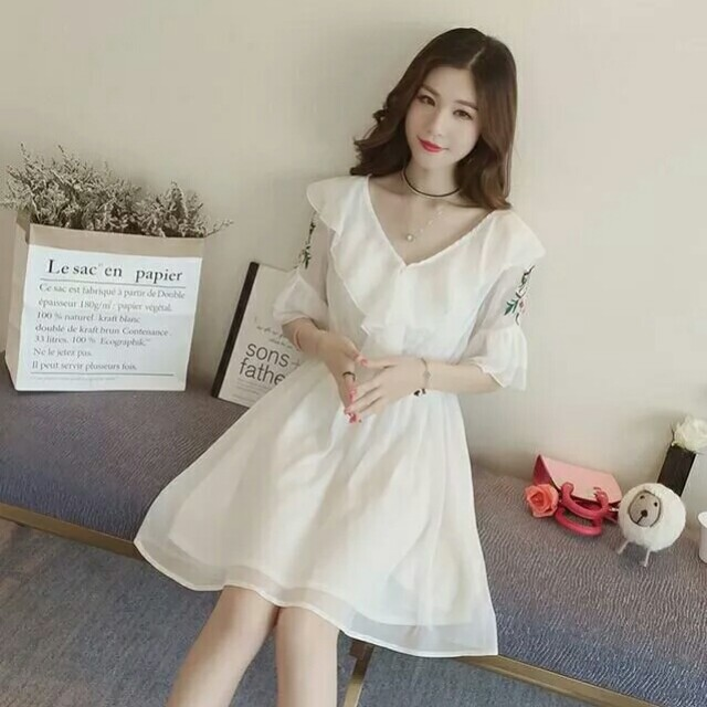 955692c5876 4xl plus big size women clothing 2018 spring summer style korean new mesh  stitch pink black cute sweet party dress female A4299
