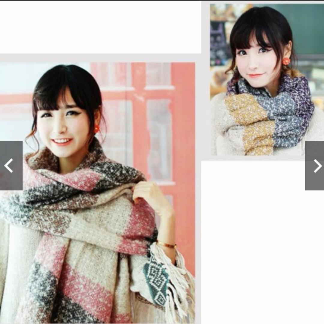 軟馬海毛包裹大冬天披肩圍巾