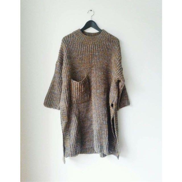 針織毛衣/羊毛長版上衣