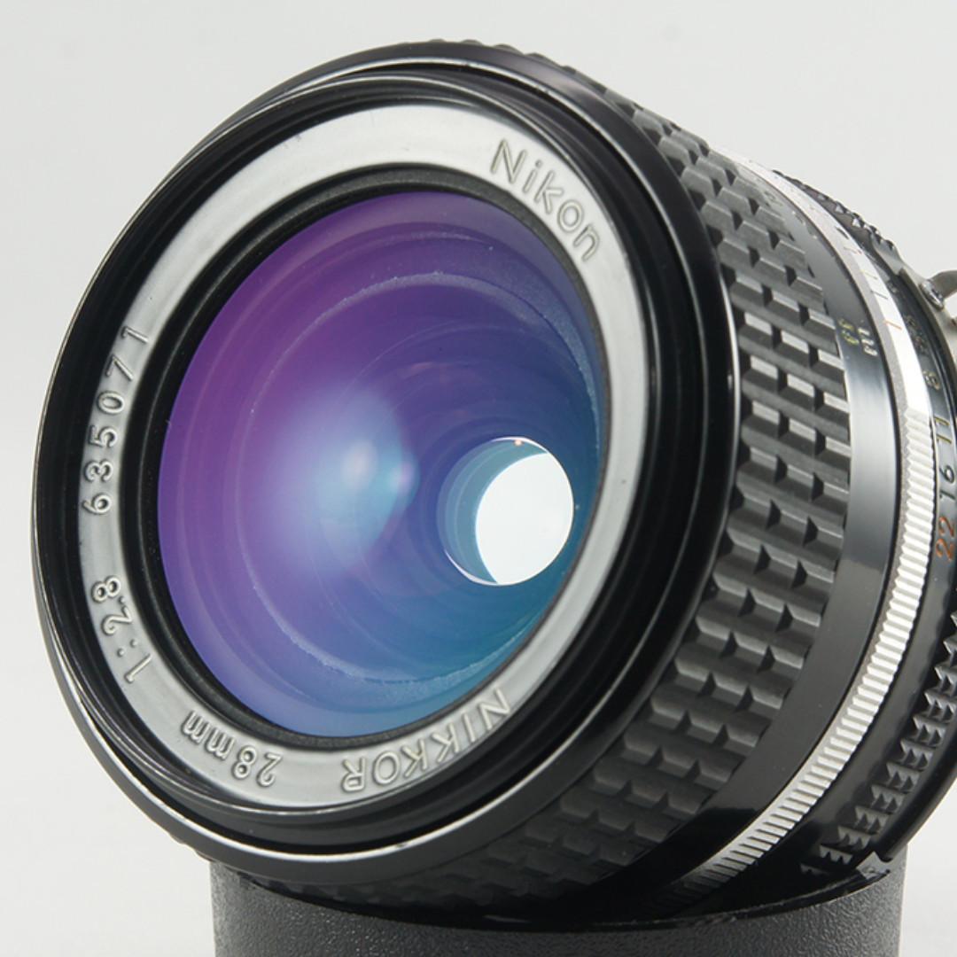 **日光銀鹽** 日鏡 Nikon AIS 28mm F2.8 20公分版 廣角鏡 #071