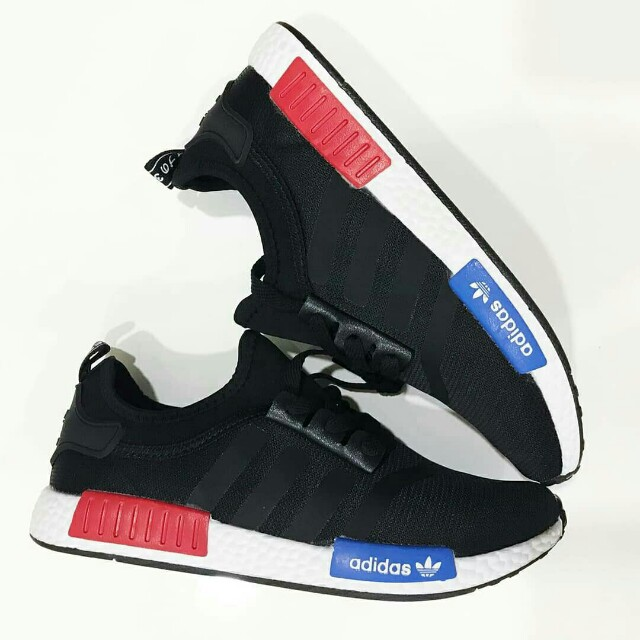 Adi_das NMD Black Red Blue