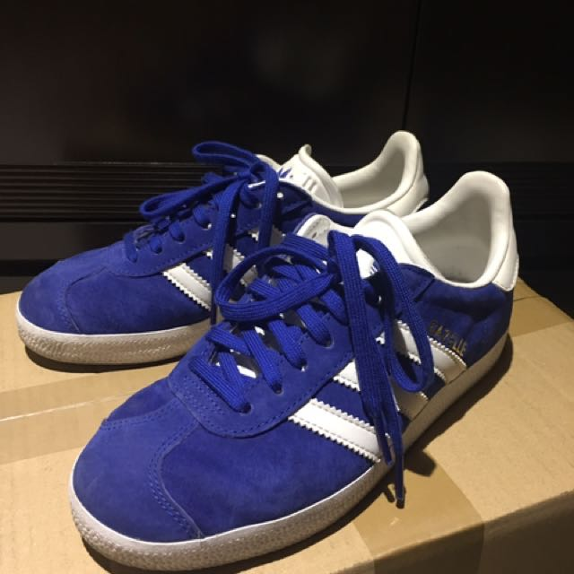 ADIDAS ORIGINAL GAZELLE 亮藍色運動休閒鞋