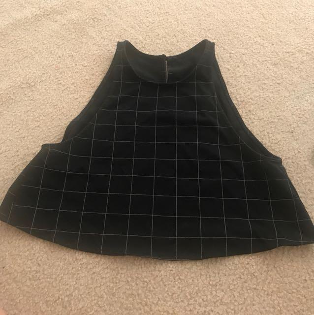 American apparel black open back top