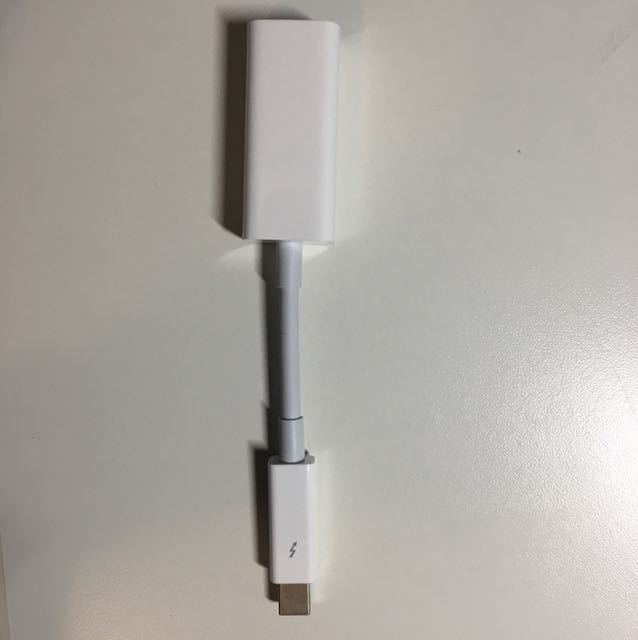 Authentic apple thunderbolt to gigabit ethernet adapter