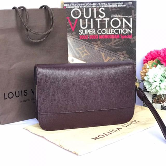 2954e93df7d6 Authentic Louis Vuitton Baikal Taiga Purple Clutch