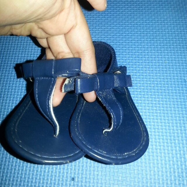 Baby blue sandals