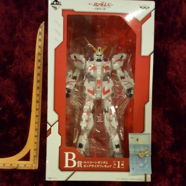 👍Banpresto Ichiban Kuji Mobile Suit Red RX-0 Unicorn Gundam - Possibility of Beast- Destroy Mode Prize B Super Size MISB - Limited Edition Extremely Rare