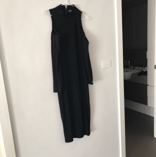 Bardot body con dress with cut out arms sz 10 worn once