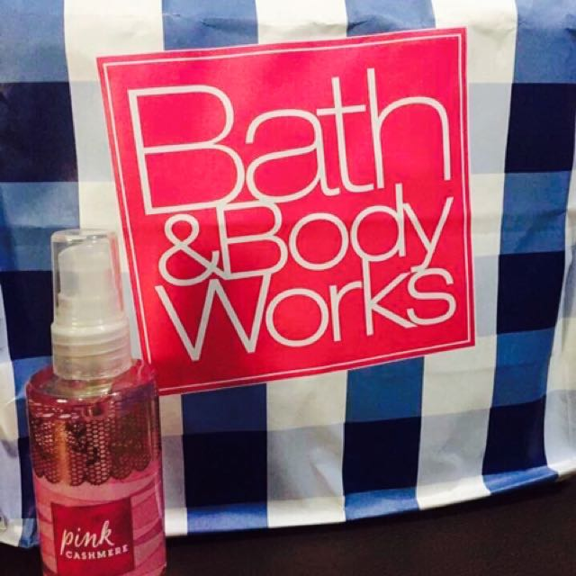 Bath and Body Works pink cashmere