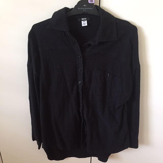 BDG black button up shirt
