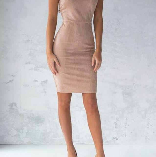 Beige Suede dress