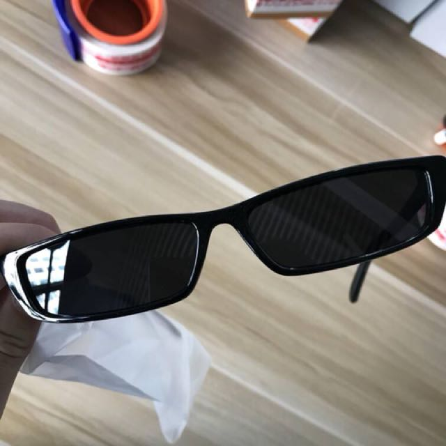 Black Narrow Sunglasses