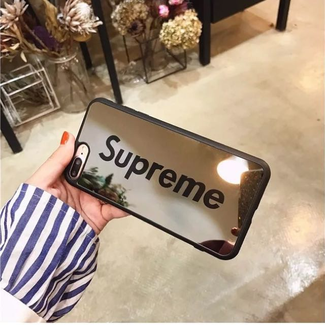 Black supreme mirror luxury iPhone 6/6s case
