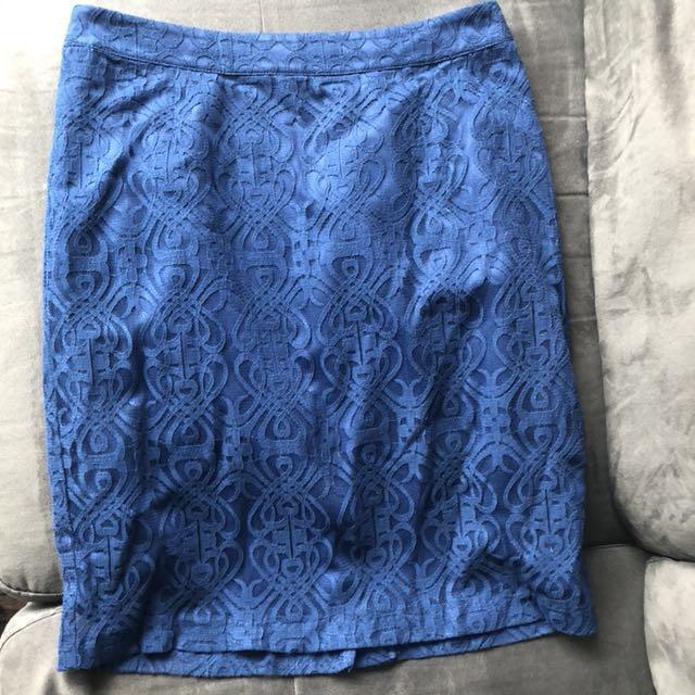 Blue Forever 21 skirt size medium