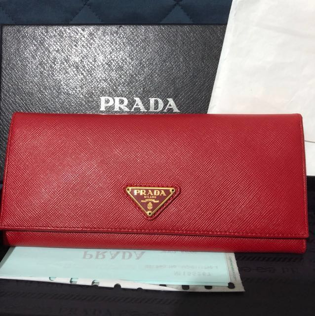 6241707361f9 ... shopping bn authentic prada saffiano long wallet w receipt luxury bags wallets  on carousell ca76f 933df ...