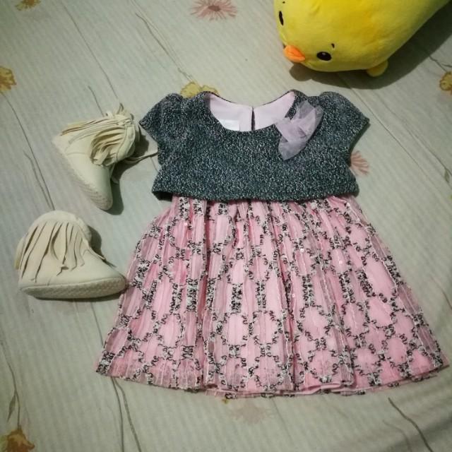 Bonnie Baby Elegant Dress 12m