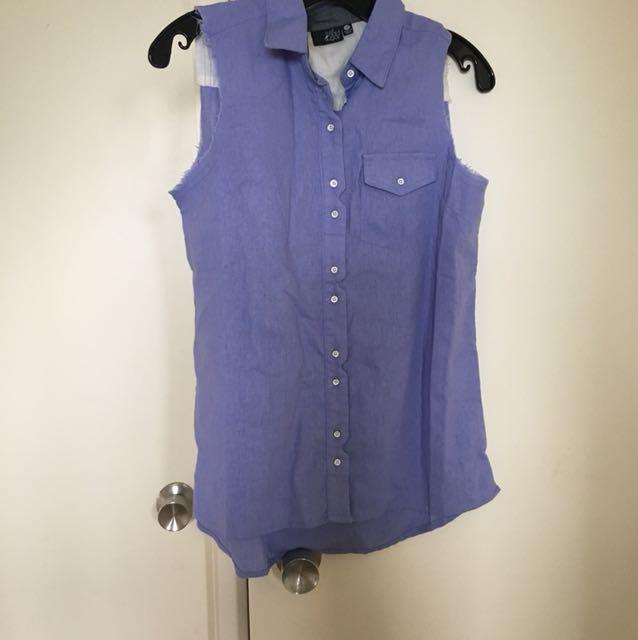 Button up sleeveless top