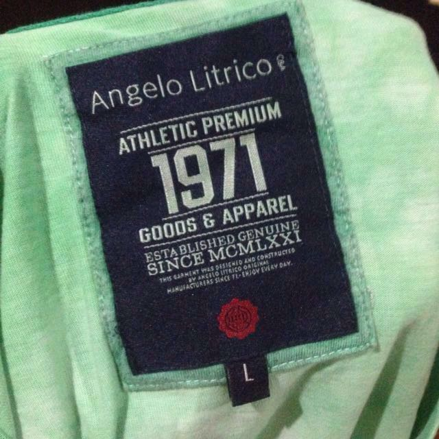 (Can fit medium) Angelo Litrico Green Faded Shirt