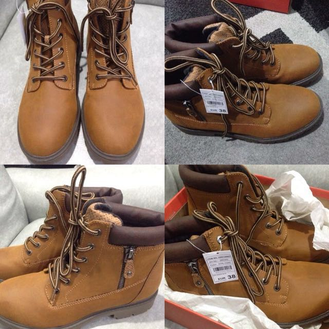 Caramel Brown Boots w/ zipper