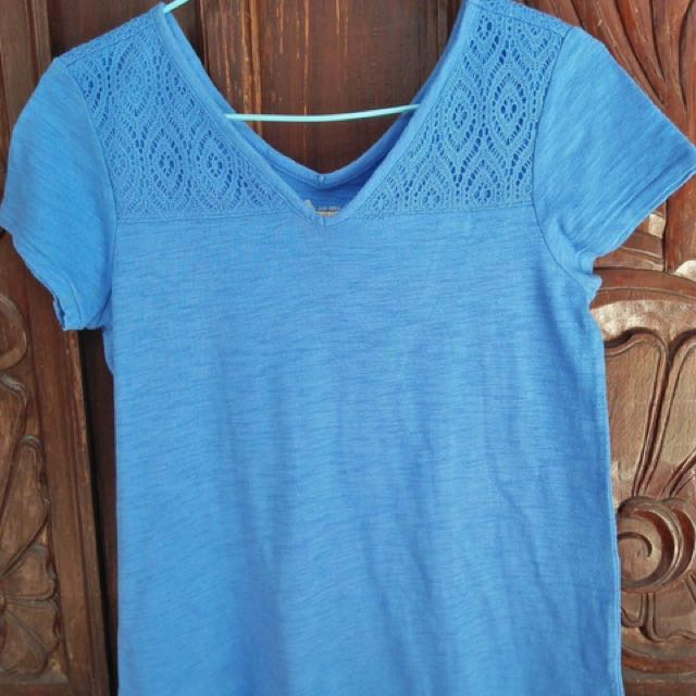 Cherry blue blouse (used)