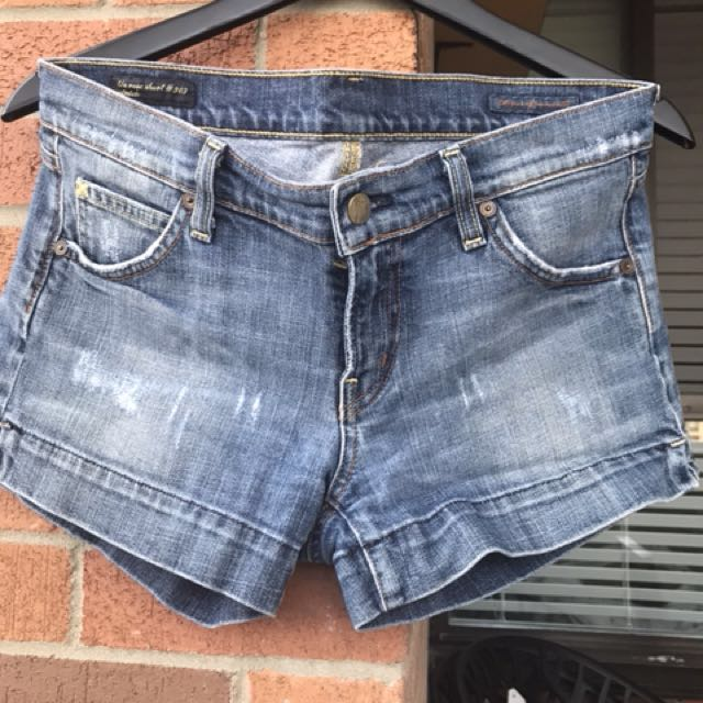 Citizens of Humanity jean shorts . Size - 30 ( fits small had to go up a size )