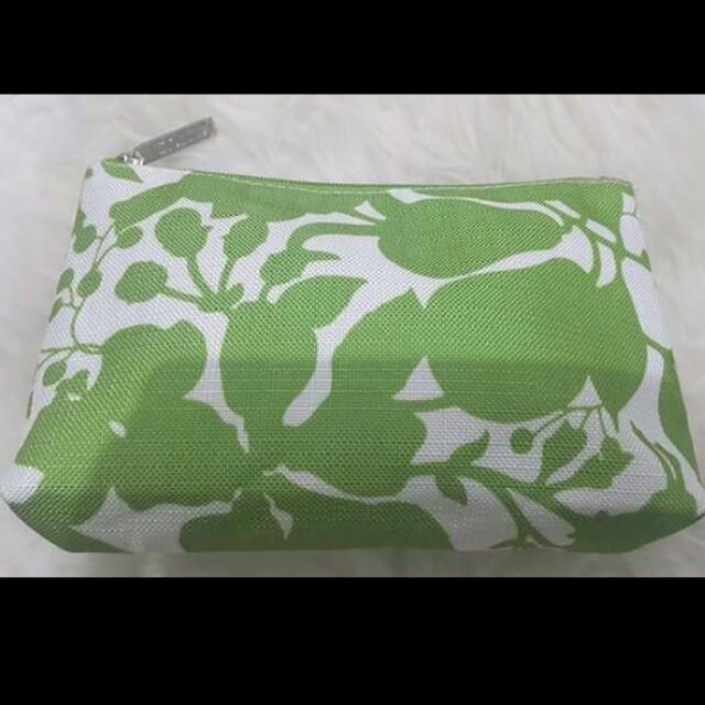 Clinique Green Floral Pouch
