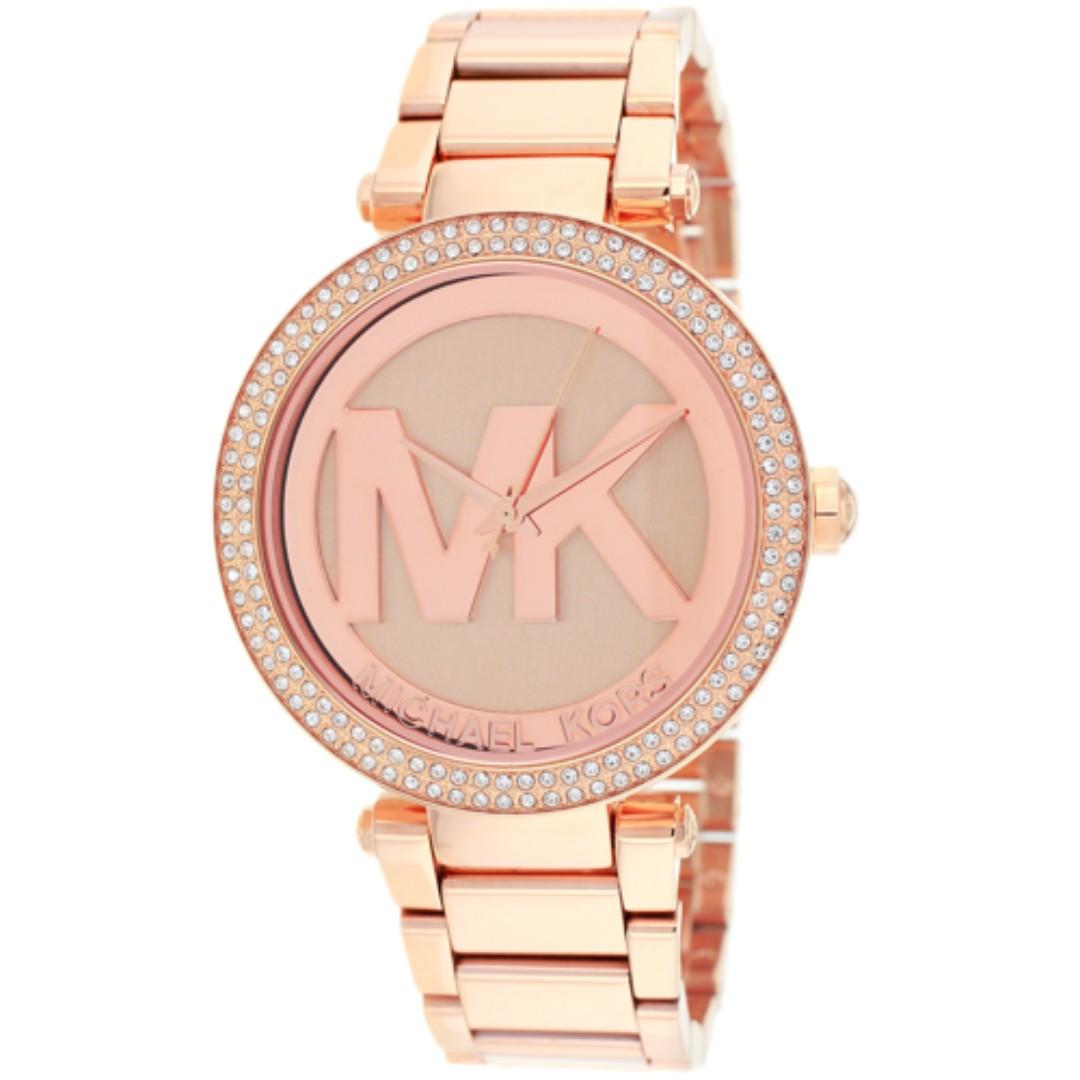 34b6df33a1f4 Authentic MICHAEL KORS MK MK5865 Parker Dial Rose Gold Tone Bracelet ...